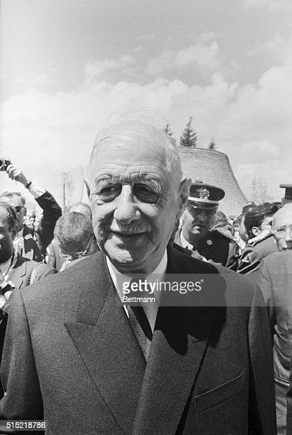 7/25/1967Montreal CanadaMontreal Expo President Charles de Gaulle of France looks on smilingly during his tour of Expo '67 here 7/25