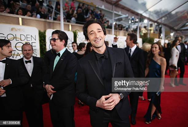 72nd ANNUAL GOLDEN GLOBE AWARDS Pictured Actor Adrien Brody arrives to the 72nd Annual Golden Globe Awards held at the Beverly Hilton Hotel on...