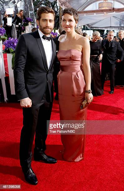 72nd ANNUAL GOLDEN GLOBE AWARDS Pictured Actor Jake Gyllenhaal and actress Maggie Gyllenhaal arrive to the 72nd Annual Golden Globe Awards held at...