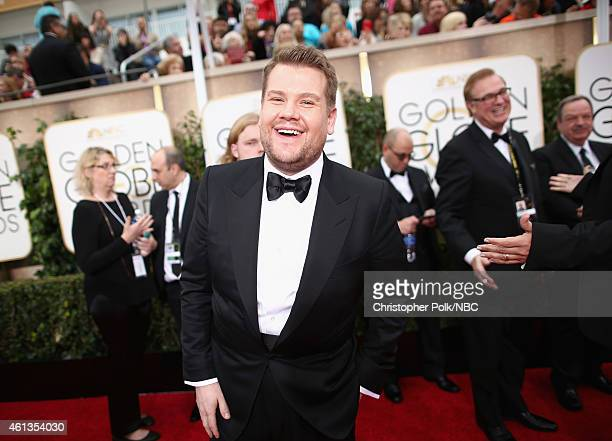 72nd ANNUAL GOLDEN GLOBE AWARDS Pictured Actor James Corden arrives to the 72nd Annual Golden Globe Awards held at the Beverly Hilton Hotel on...