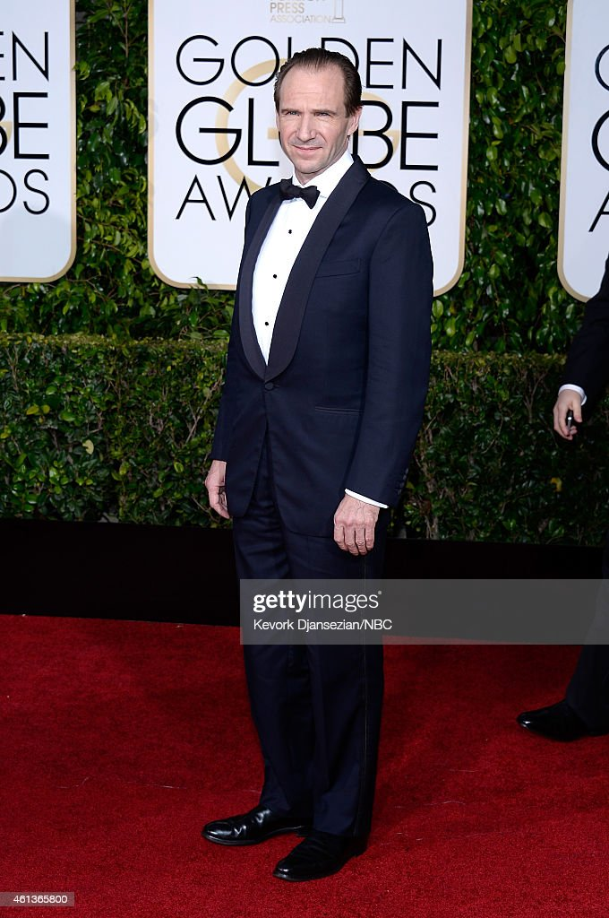 72nd ANNUAL GOLDEN GLOBE AWARDS Pictured Actor Ralph Fiennes arrives to the 72nd Annual Golden Globe Awards held at the Beverly Hilton Hotel on...