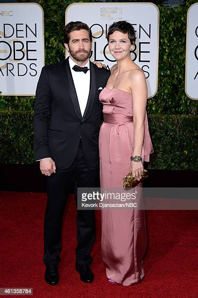 72nd ANNUAL GOLDEN GLOBE AWARDS Pictured Actors Jake Gyllenhaal and Maggie Gyllenhaal arrive to the 72nd Annual Golden Globe Awards held at the...