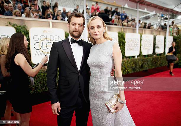 72nd ANNUAL GOLDEN GLOBE AWARDS Pictured Actors Joshua Jackson and Diane Kruger arrive to the 72nd Annual Golden Globe Awards held at the Beverly...