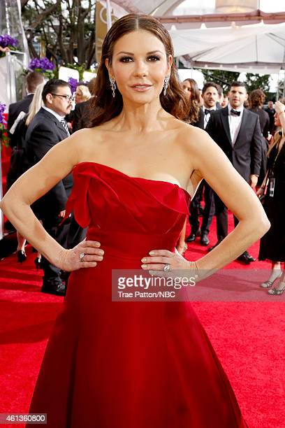 72nd ANNUAL GOLDEN GLOBE AWARDS Pictured Actress Catherine ZetaJones arrives to the 72nd Annual Golden Globe Awards held at the Beverly Hilton Hotel...