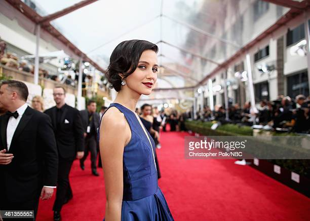 72nd ANNUAL GOLDEN GLOBE AWARDS Pictured Actress Julia Goldani Telles arrives to the 72nd Annual Golden Globe Awards held at the Beverly Hilton Hotel...