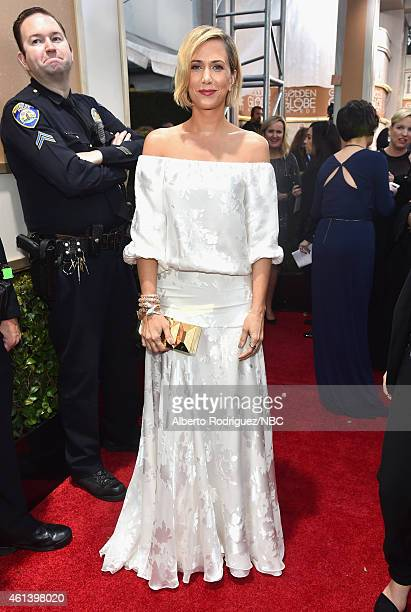 72nd ANNUAL GOLDEN GLOBE AWARDS Pictured Actress Kristen Wiig arrives to the 72nd Annual Golden Globe Awards held at the Beverly Hilton Hotel on...