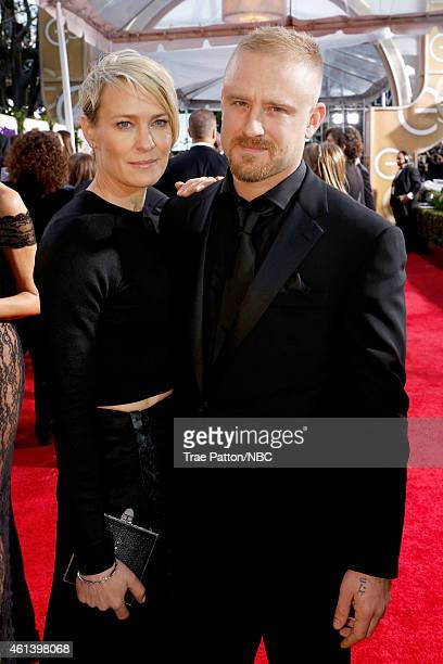 72nd ANNUAL GOLDEN GLOBE AWARDS Pictured Actress Robin Wright and actor Ben Foster arrive to the 72nd Annual Golden Globe Awards held at the Beverly...