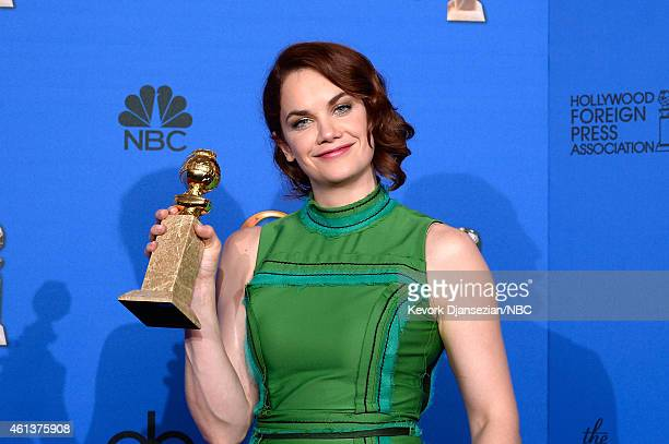 72nd ANNUAL GOLDEN GLOBE AWARDS Pictured Actress Ruth Wilson winner of Best Actress in a TV Series Drama for 'The Affair' poses in the press room at...