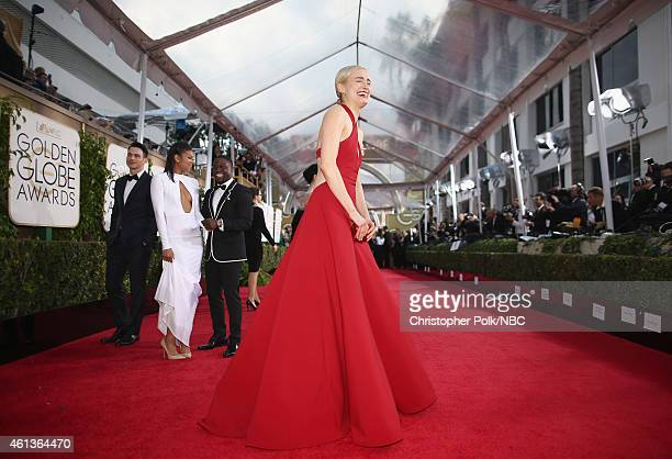 72nd ANNUAL GOLDEN GLOBE AWARDS Pictured Actress Taylor Schilling arrives to the 72nd Annual Golden Globe Awards held at the Beverly Hilton Hotel on...
