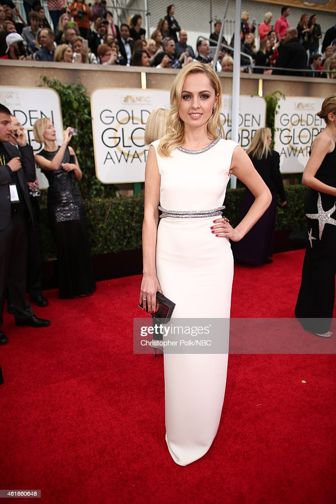 72nd ANNUAL GOLDEN GLOBE AWARDS -- Pictured: Actress Yanina Studilina arrives to the 72nd Annual Golden Globe Awards held at the Beverly Hilton Hotel on January 11, 2015.