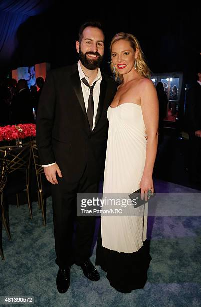 72nd ANNUAL GOLDEN GLOBE AWARDS Pictured Musician Josh Kelley and actress Katherine Heigl pose during NBC Universal's Golden Globes PostParty...