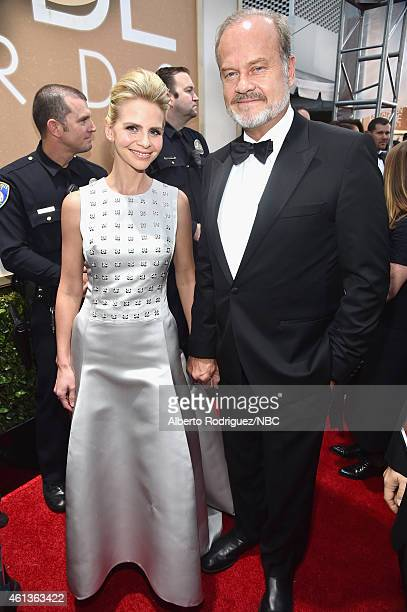 72nd ANNUAL GOLDEN GLOBE AWARDS Pictured Producer Kayte Walsh and actor Kelsey Grammer arrive to the 72nd Annual Golden Globe Awards held at the...
