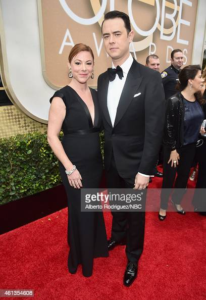 72nd ANNUAL GOLDEN GLOBE AWARDS Pictured Publicist Samantha Bryant and actor Colin Hanks arrive to the 72nd Annual Golden Globe Awards held at the...