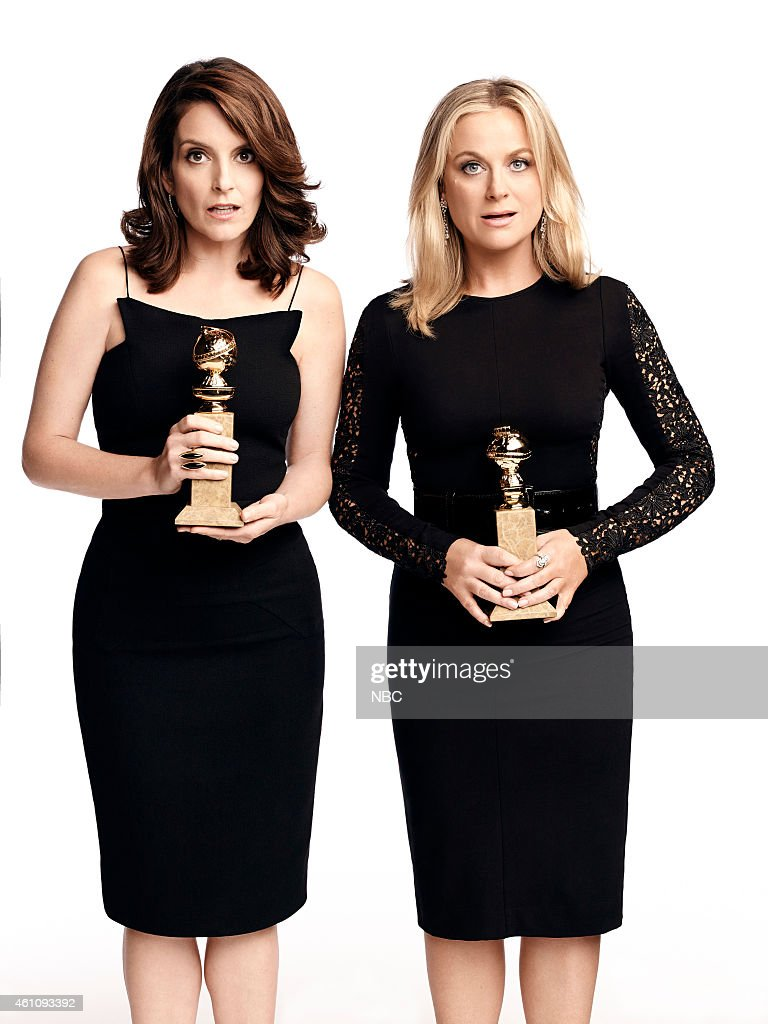 GLOBES -- 72nd Annual Golden Globe Awards -- Pictured: (l-r) <a gi-track='captionPersonalityLinkClicked' href=/galleries/search?phrase=Tina+Fey&family=editorial&specificpeople=206753 ng-click='$event.stopPropagation()'>Tina Fey</a>, <a gi-track='captionPersonalityLinkClicked' href=/galleries/search?phrase=Amy+Poehler&family=editorial&specificpeople=228430 ng-click='$event.stopPropagation()'>Amy Poehler</a> --