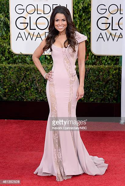 72nd ANNUAL GOLDEN GLOBE AWARDS Pictured TV personality Tracey Edmonds arrives to the 72nd Annual Golden Globe Awards held at the Beverly Hilton...