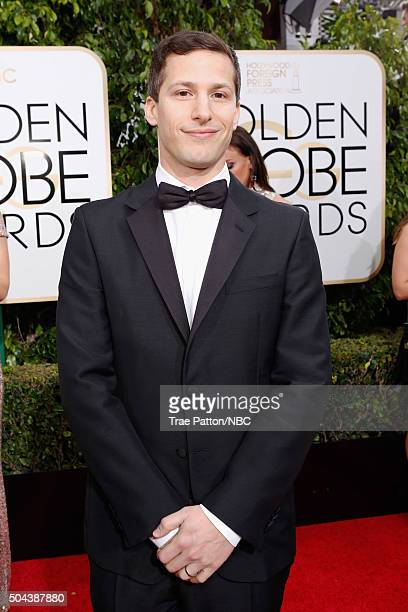 73rd ANNUAL GOLDEN GLOBE AWARDS Pictured Actor Andy Samberg arrives to the 73rd Annual Golden Globe Awards held at the Beverly Hilton Hotel on...