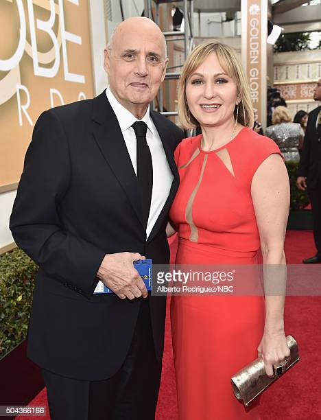 73rd ANNUAL GOLDEN GLOBE AWARDS Pictured Actor Jeffrey Tambor and actress Kasia Ostlun arrive to the 73rd Annual Golden Globe Awards held at the...