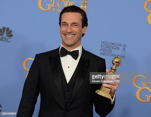 73rd ANNUAL GOLDEN GLOBE AWARDS Pictured Actor Jon Hamm winner of the award for Best Performance by an Actor in a Television Series Drama for 'Mad...