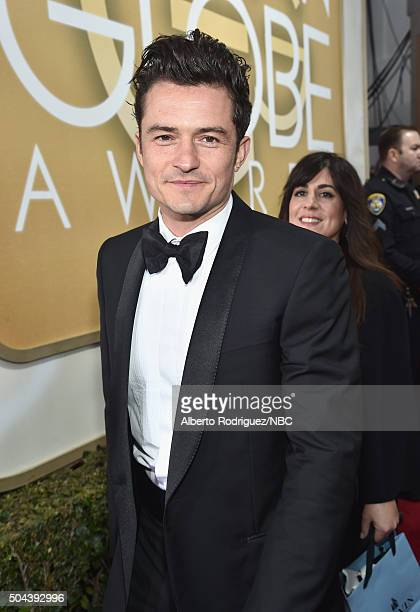 73rd ANNUAL GOLDEN GLOBE AWARDS Pictured Actor Orlando Bloom arrives to the 73rd Annual Golden Globe Awards held at the Beverly Hilton Hotel on...