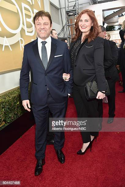 73rd ANNUAL GOLDEN GLOBE AWARDS Pictured Actor Sean Bean and Ashley Moore arrive to the 73rd Annual Golden Globe Awards held at the Beverly Hilton...