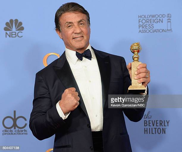 73rd ANNUAL GOLDEN GLOBE AWARDS Pictured Actor Sylvester Stallone winner of the award for Best Performance by an Actor in a Supporting Role in a...