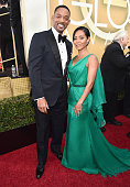 73rd ANNUAL GOLDEN GLOBE AWARDS Pictured Actor Will Smith and actress Jada Pinkett Smith arrive to the 73rd Annual Golden Globe Awards held at the...