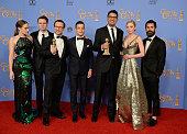 73rd ANNUAL GOLDEN GLOBE AWARDS Pictured Actors Carly Chaikin Martin Wallstrom Christian Slater Rami Malek writer/producer Sam Esmail actress Portia...