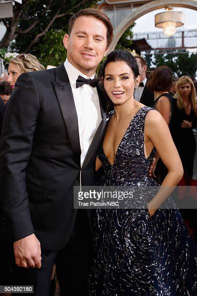 73rd ANNUAL GOLDEN GLOBE AWARDS Pictured Actors Channing Tatum and Jenna Dewan Tatum arrive to the 73rd Annual Golden Globe Awards held at the...