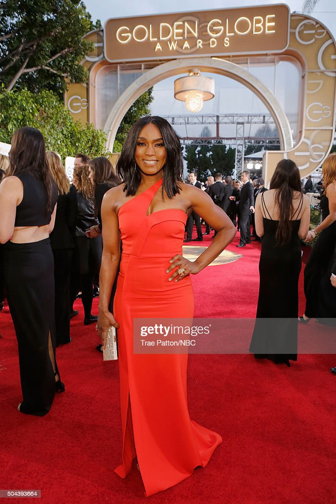 73rd ANNUAL GOLDEN GLOBE AWARDS Pictured Actress Angela Bassett arrives to the 73rd Annual Golden Globe Awards held at the Beverly Hilton Hotel on...