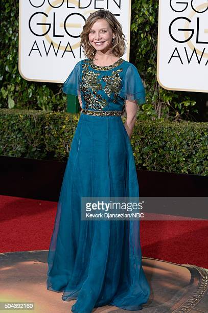 73rd ANNUAL GOLDEN GLOBE AWARDS Pictured Actress Calista Flockhart arrives to the 73rd Annual Golden Globe Awards held at the Beverly Hilton Hotel on...