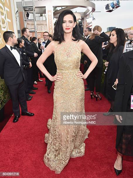 73rd ANNUAL GOLDEN GLOBE AWARDS Pictured Actress Eva Green arrives to the 73rd Annual Golden Globe Awards held at the Beverly Hilton Hotel on January...