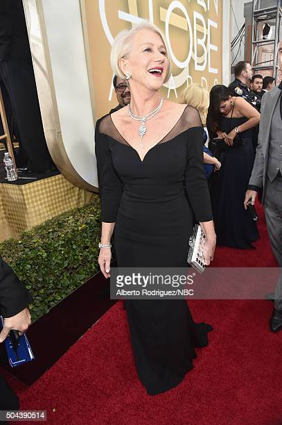 73rd ANNUAL GOLDEN GLOBE AWARDS Pictured Actress Helen Mirren arrives to the 73rd Annual Golden Globe Awards held at the Beverly Hilton Hotel on...
