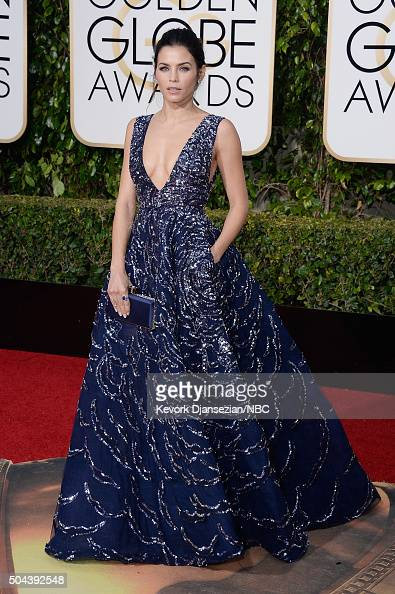 73rd ANNUAL GOLDEN GLOBE AWARDS Pictured Actress Jenna Dewan Tatum arrives to the 73rd Annual Golden Globe Awards held at the Beverly Hilton Hotel on...