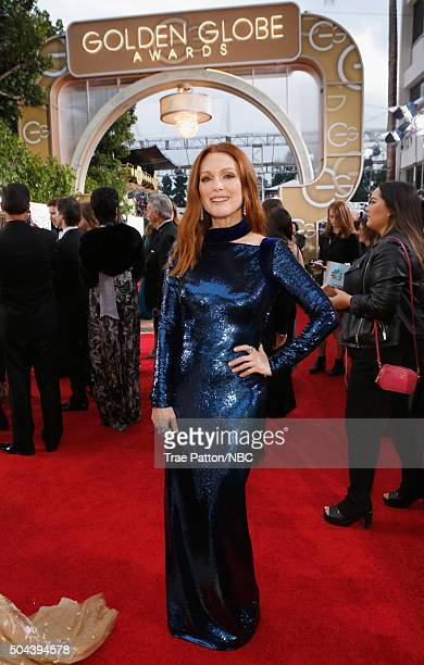 73rd ANNUAL GOLDEN GLOBE AWARDS Pictured Actress Julianne Moore arrives to the 73rd Annual Golden Globe Awards held at the Beverly Hilton Hotel on...