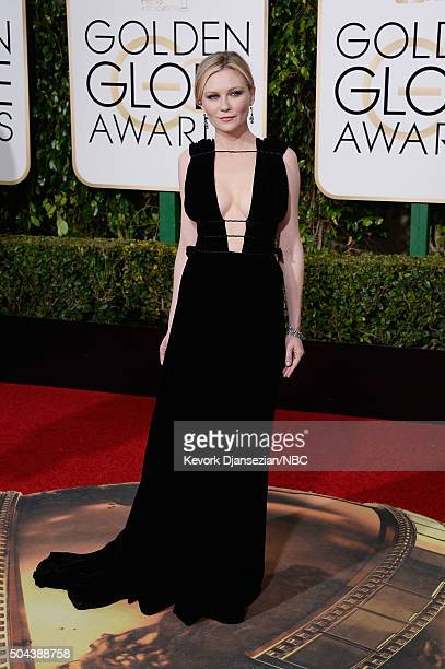 73rd ANNUAL GOLDEN GLOBE AWARDS Pictured Actress Kirsten Dunst arrives to the 73rd Annual Golden Globe Awards held at the Beverly Hilton Hotel on...