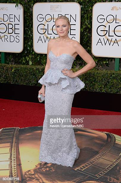 73rd ANNUAL GOLDEN GLOBE AWARDS Pictured Actress Malin Akerman arrives to the 73rd Annual Golden Globe Awards held at the Beverly Hilton Hotel on...