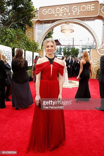 73rd ANNUAL GOLDEN GLOBE AWARDS Pictured Actress Natalie Dormer arrives to the 73rd Annual Golden Globe Awards held at the Beverly Hilton Hotel on...