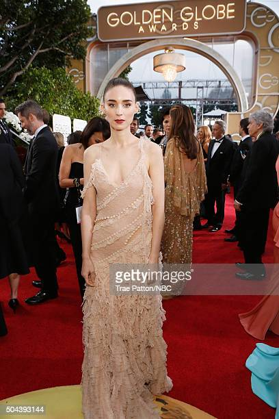 73rd ANNUAL GOLDEN GLOBE AWARDS Pictured Actress Rooney Mara arrives to the 73rd Annual Golden Globe Awards held at the Beverly Hilton Hotel on...
