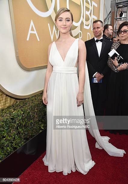 73rd ANNUAL GOLDEN GLOBE AWARDS Pictured Actress Saoirse Ronan arrives to the 73rd Annual Golden Globe Awards held at the Beverly Hilton Hotel on...