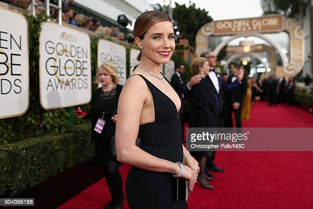 73rd ANNUAL GOLDEN GLOBE AWARDS Pictured Actress Sophia Bush arrives to the 73rd Annual Golden Globe Awards held at the Beverly Hilton Hotel on...
