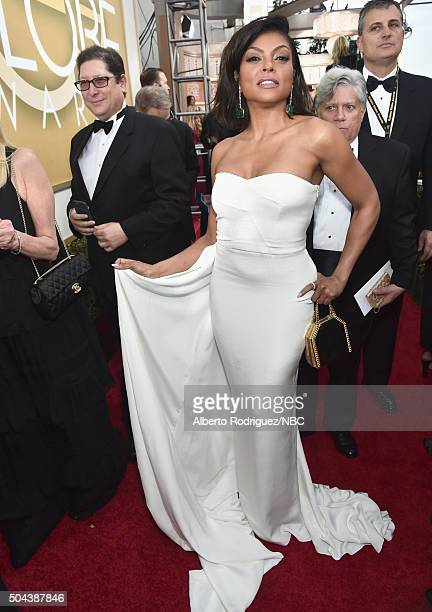 73rd ANNUAL GOLDEN GLOBE AWARDS Pictured Actress Taraji P Henson arrives to the 73rd Annual Golden Globe Awards held at the Beverly Hilton Hotel on...