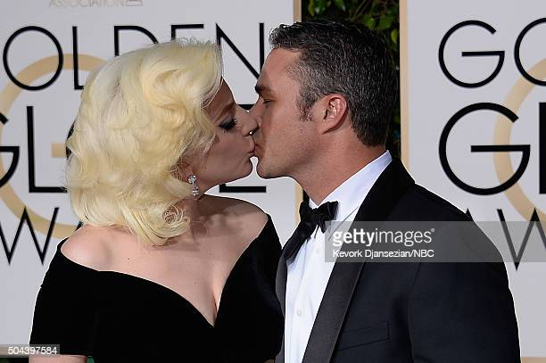 73rd ANNUAL GOLDEN GLOBE AWARDS Pictured Singer/actor Lady Gaga and actor Taylor Kinney arrive to the 73rd Annual Golden Globe Awards held at the...