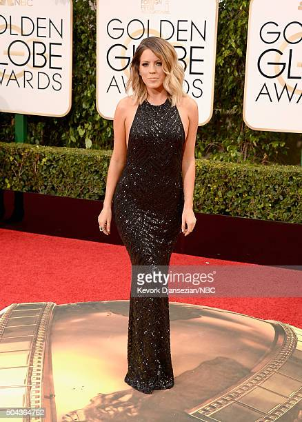 73rd ANNUAL GOLDEN GLOBE AWARDS Pictured TV personality Stephanie Bauer arrives to the 73rd Annual Golden Globe Awards held at the Beverly Hilton...