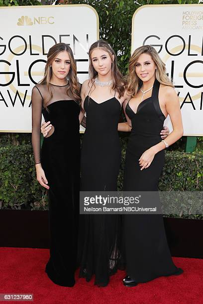 74th ANNUAL GOLDEN GLOBE AWARDS Pictured 2017 Miss Golden Globes Sistine Stallone Scarlet Stallone and Sophia Stallone arrive to the 74th Annual...