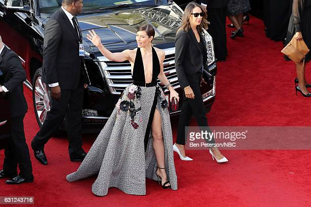 74th ANNUAL GOLDEN GLOBE AWARDS Pictured Actor Jessica Biel arrives to the 74th Annual Golden Globe Awards held at the Beverly Hilton Hotel on...