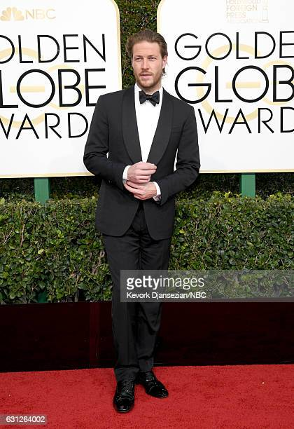 74th ANNUAL GOLDEN GLOBE AWARDS Pictured Actor Luke Bracey arrives to the 74th Annual Golden Globe Awards held at the Beverly Hilton Hotel on January...