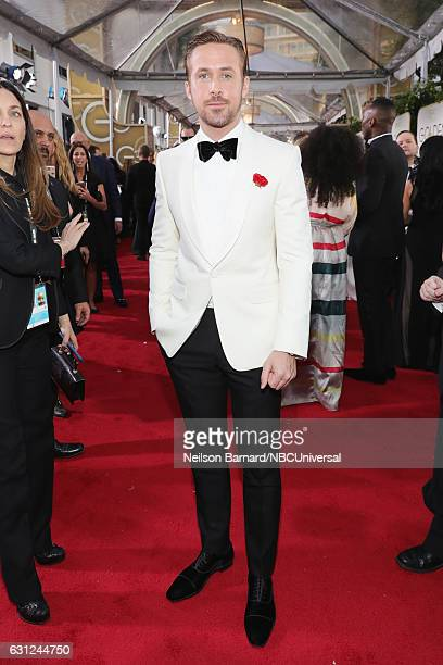 74th ANNUAL GOLDEN GLOBE AWARDS Pictured Actor Ryan Gosling arrives to the 74th Annual Golden Globe Awards held at the Beverly Hilton Hotel on...
