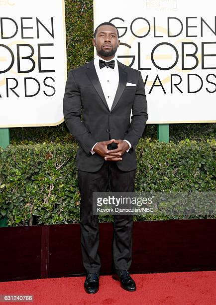 74th ANNUAL GOLDEN GLOBE AWARDS Pictured Actor Trevante Rhodes arrives to the 74th Annual Golden Globe Awards held at the Beverly Hilton Hotel on...