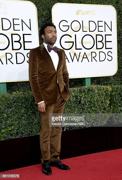 74th ANNUAL GOLDEN GLOBE AWARDS Pictured Actor/Musician Donald Glover arrives to the 74th Annual Golden Globe Awards held at the Beverly Hilton Hotel...
