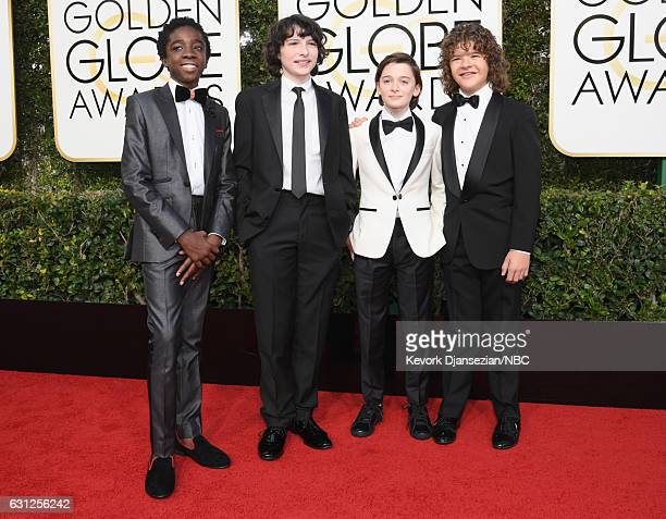 74th ANNUAL GOLDEN GLOBE AWARDS Pictured Actors Caleb McLaughlin Finn Wolfhard Noah Schnapp and Gaten Matarazzo arrive to the 74th Annual Golden...